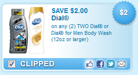$2.00 off TWO Dial Body Washes
