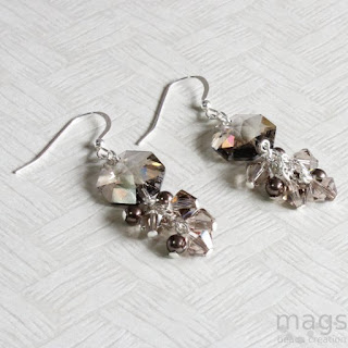 Cluster Swarosvski Crystals Earrings by MagsBeadsCreation