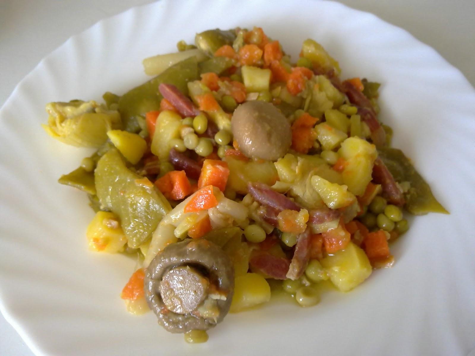 El piquito de oro menestra de verduras con jam n - Como preparar menestra de verduras ...