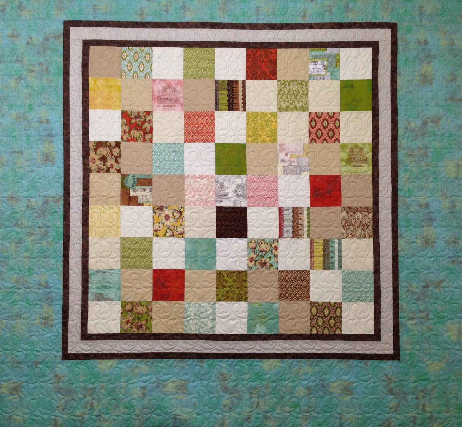 Sally Krebs Pastel Squares Quilt