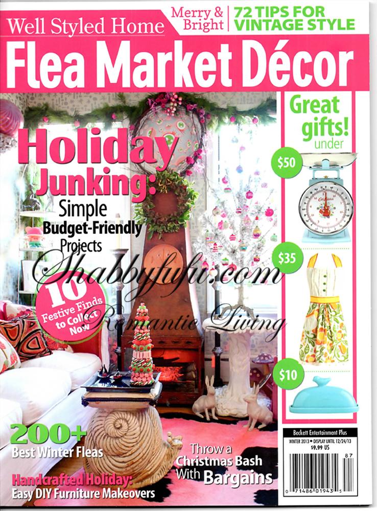 Published christmas shoot flea market decor magazine for Flea market home decor