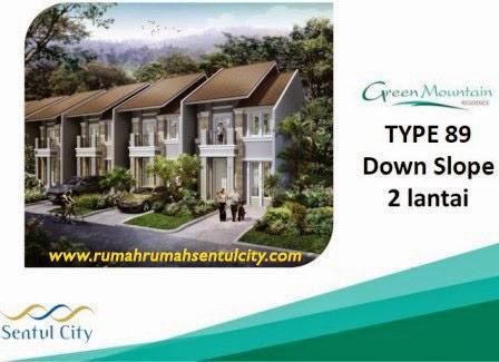 Rumah Tipe 89 Green Maountain Sentul City thp 3 R2sc
