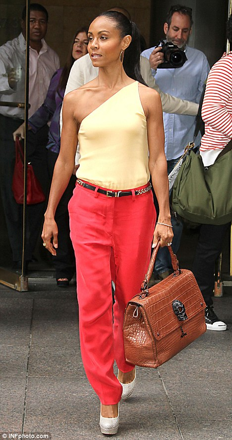 Jada Pinkett Smith Ravishing in red