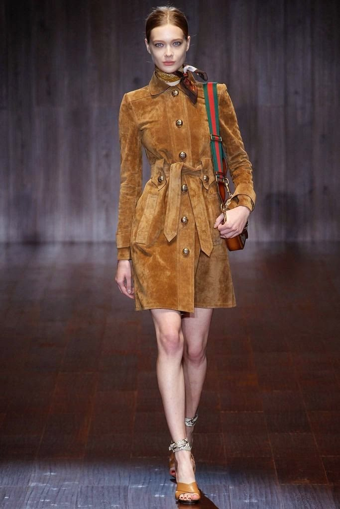 Tendências moda primavera-verão 2015 camurça