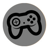 Input Related Accessibility: Symbol depicts a game controller on a grey background.