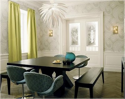 Modern luxury style trends in color - Trend wallpaper dining ...
