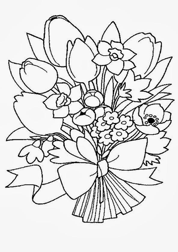 Раскраска цветок для детей