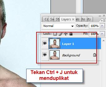 Kita bekerja di Foto hasil duplikat aja ya.. pilih layer 1 (foto hasih ...