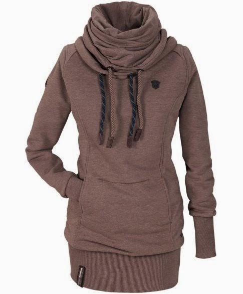Longsweater-Kleid braun Women