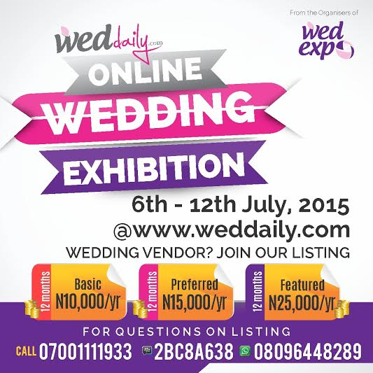 Exhibition Booth Lagos : Wedding vendors get the best deals on wed expo booths