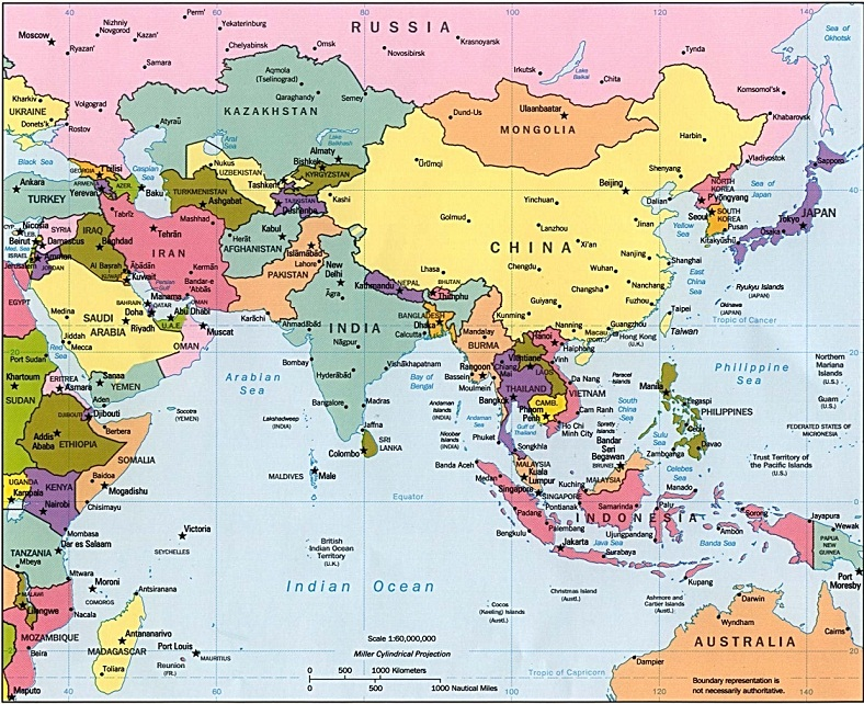 Mapa de Asia Mapa Político