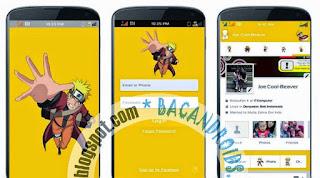 Facebook+Mod+Tema+Anime+Naruto+Yellow+APK