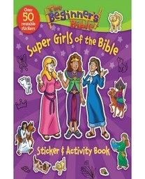 Super girls of the bible Sticker activity book cover