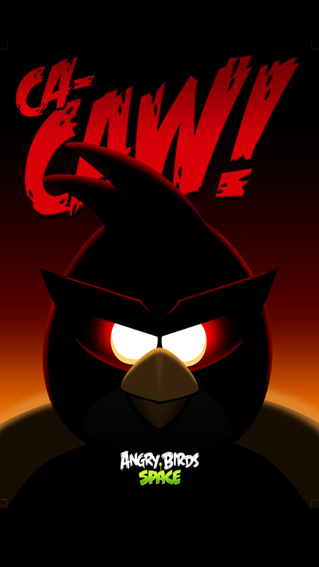 Black angry bird space wallpaper