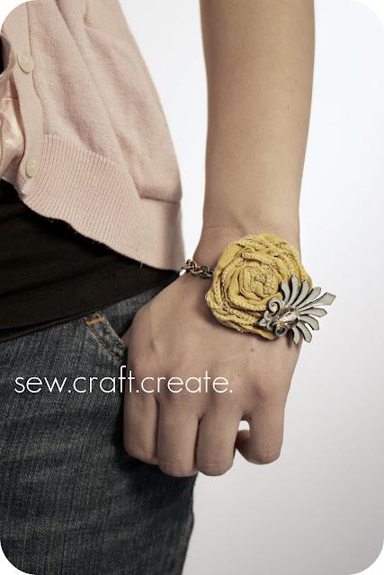 crafty jewelry: rosette bracelet tutorial!