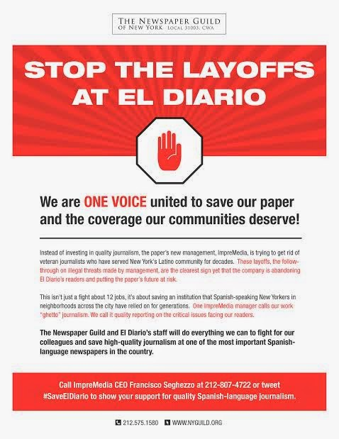Stop The Layoffs At El Diario