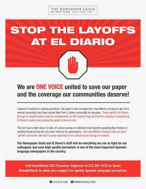 Stop The Layoffs At El Diario