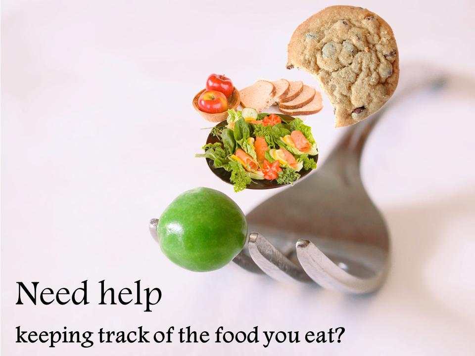 A fork holds a pea, a salad, and a cookie.  Do you need help keeping track of the food you eat?