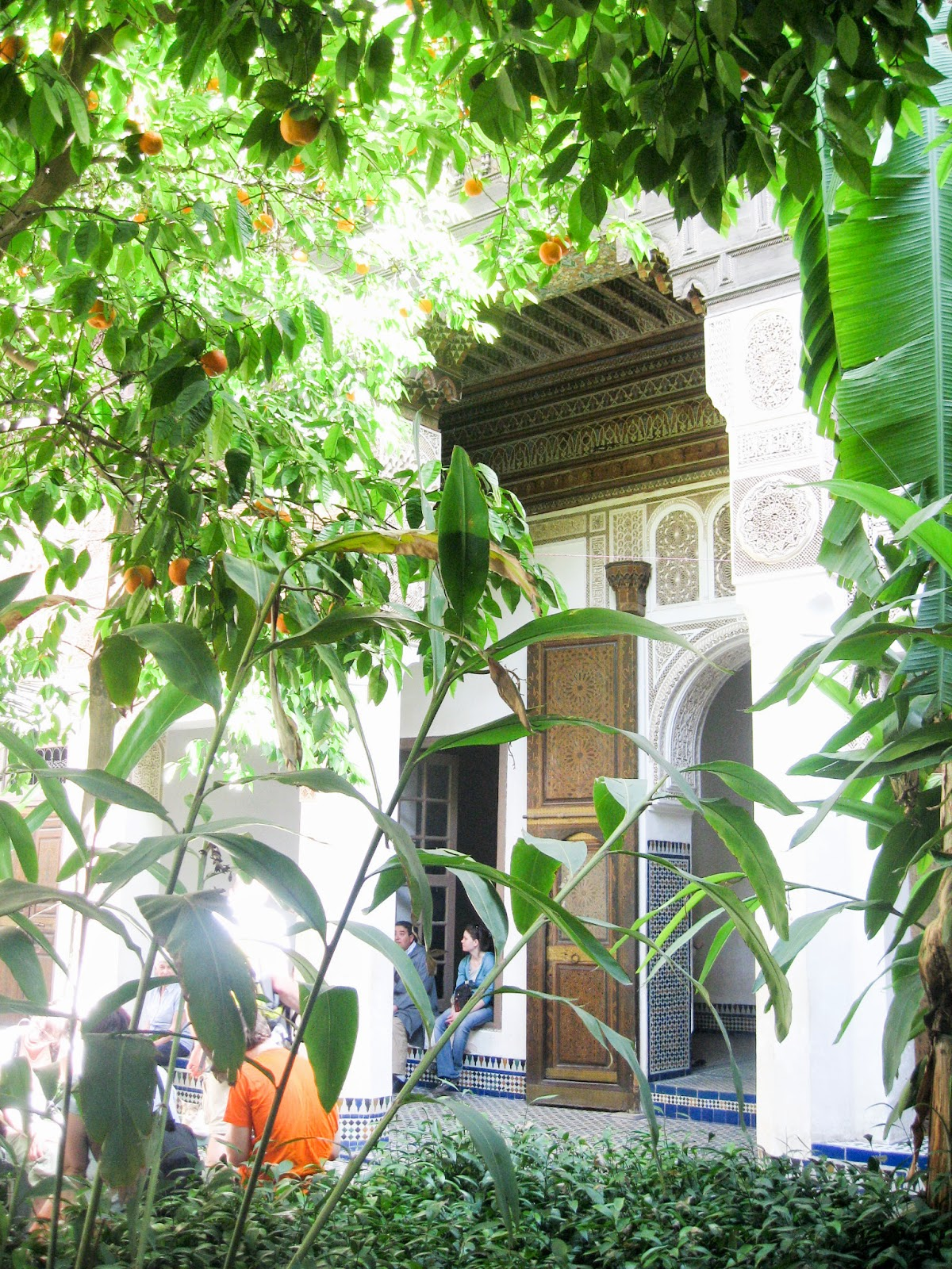 Top Marrakech tourist attractions: green and lush Bahia Palace