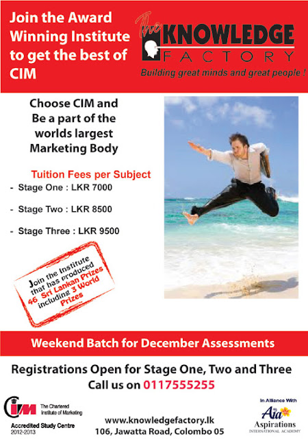Enroll for Chartered Institute of Marketing (CIM) programmes with Knowledge Factory