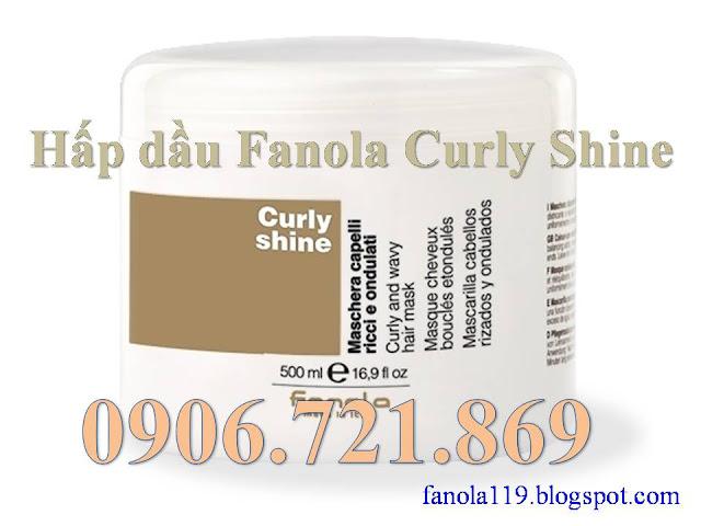 Hấp dầu Fanola Curly Shine - Chuyên gia chăm sóc tóc uốn - Made in Italy