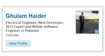 Add LinkedIn Profile Badge Card In Your Blogger Blog Web Site