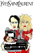 . Marilyn Manson and Courtney Love by aleXsandro Palombo