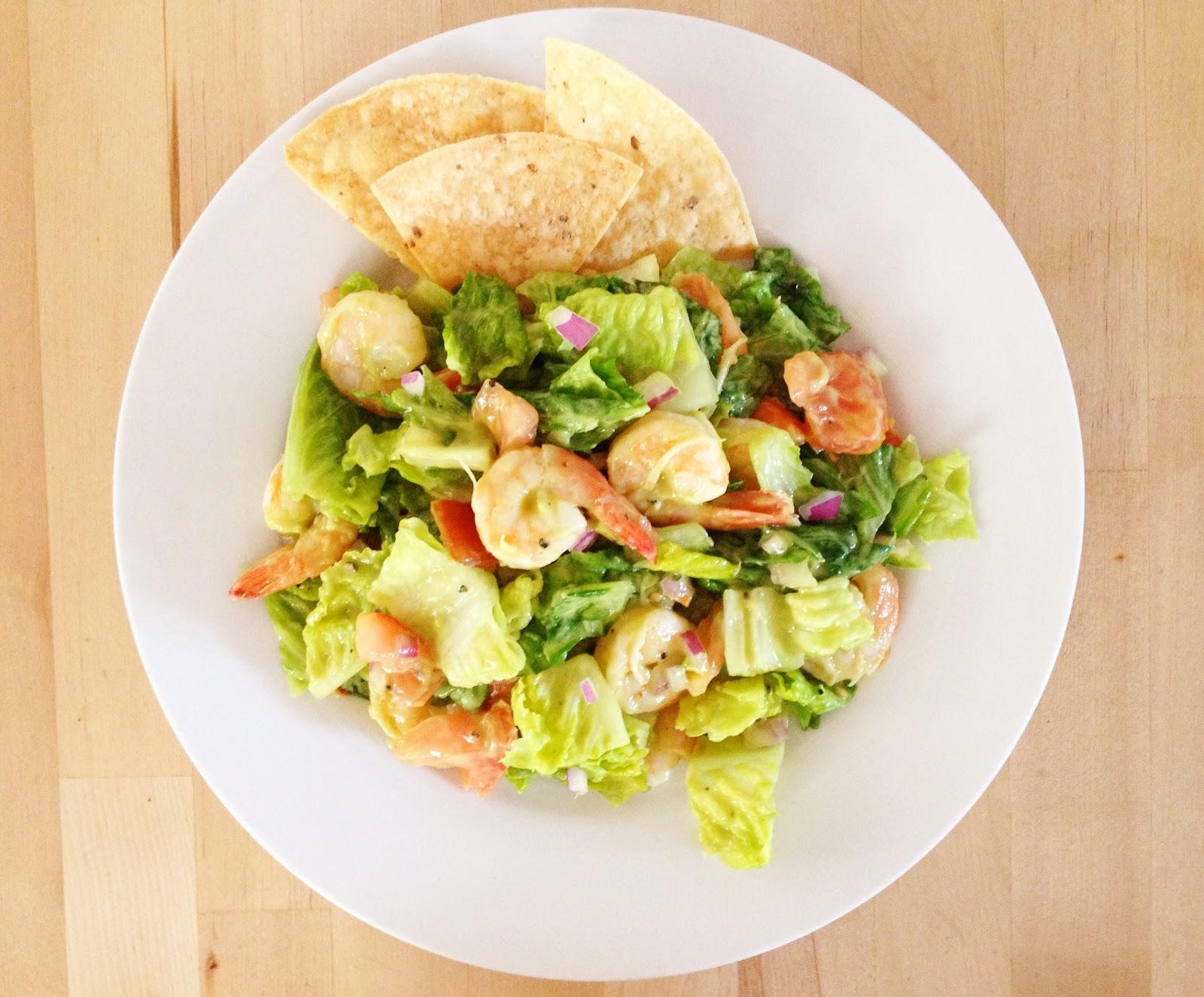 deliciously organized: cilantro lime shrimp salad