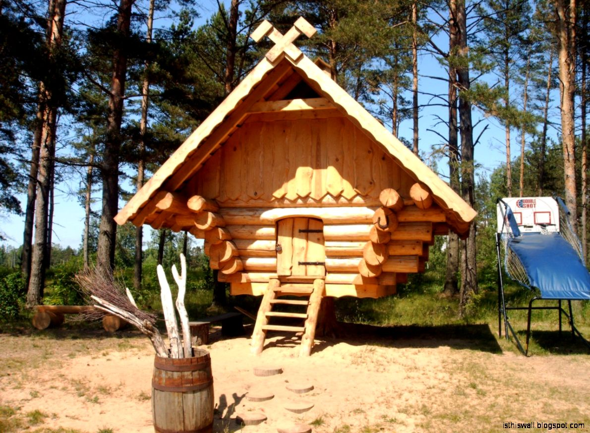 Home and Apartment Adorable Small Log Cabin Style Home Design
