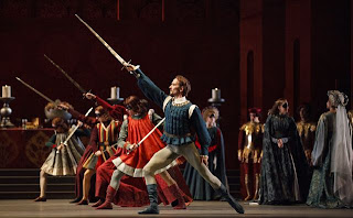 Romeo and Juliet, National Ballet of Canada, world premier, Jiří Jelinek as Tybalt and artists of the ballet, credit: national.ballet.ca