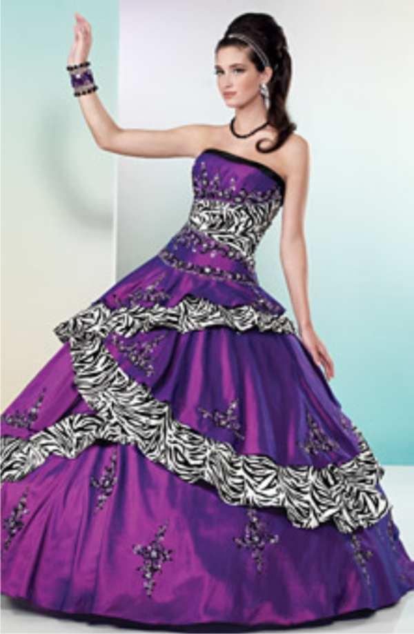 Knitting gallery purple wedding dress for Zebra print wedding dress