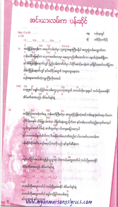Myanmarlyric: Myanmar Guitar lyric