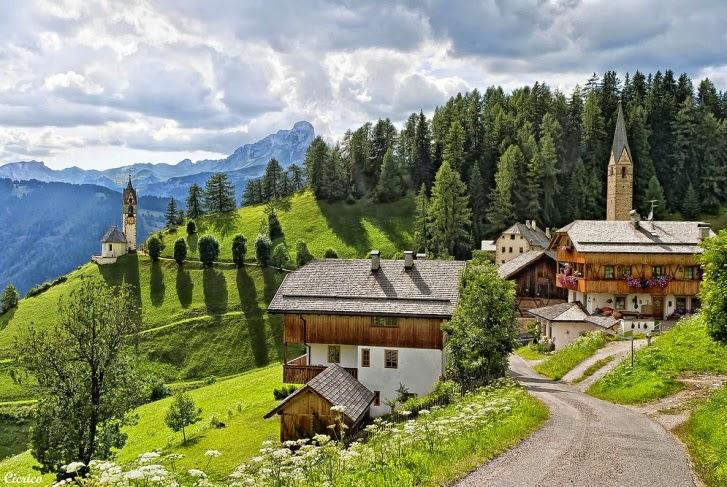 enchanted the beauty of Wengen village, Switzerland