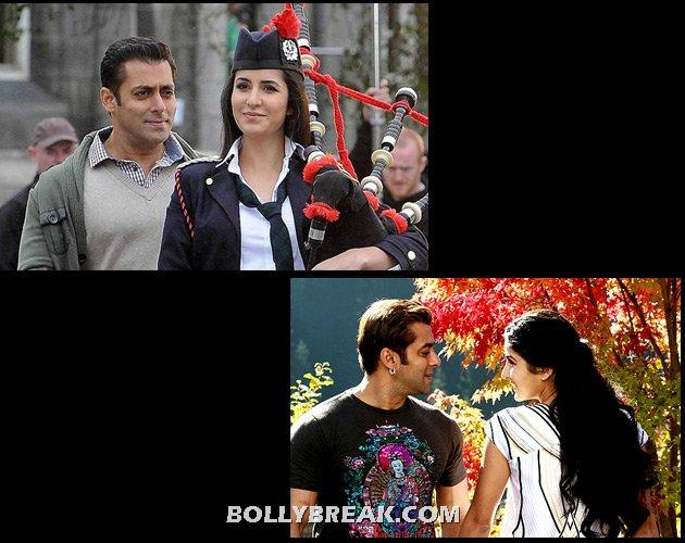 Old salman khan and young katrina kaif - (10) - Old  heros and young heroines- Rowdy Rathore to gadar