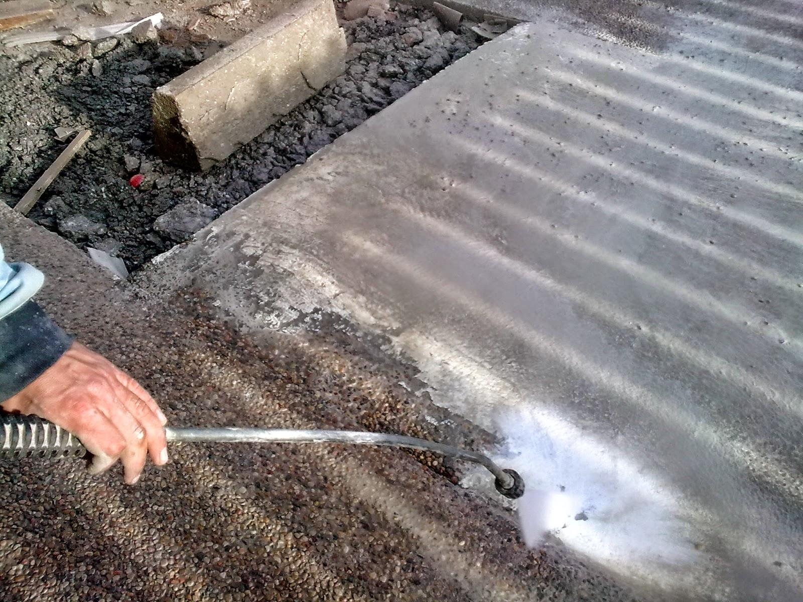 Hormig n desactivado pavimentos continuos de hormig n for Limpiar hormigon impreso
