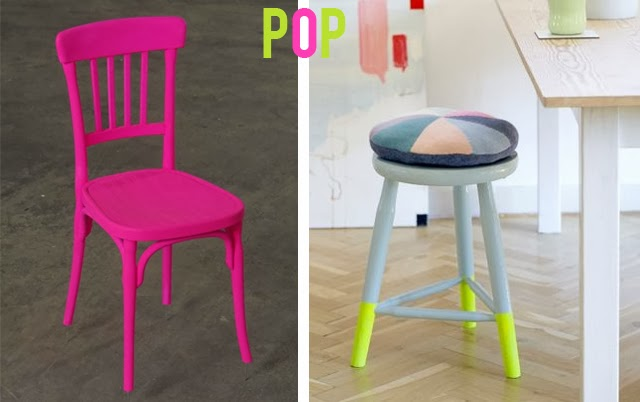 Customiser chaises fluo
