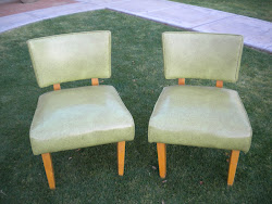vinyl slipper chairs...SOLD