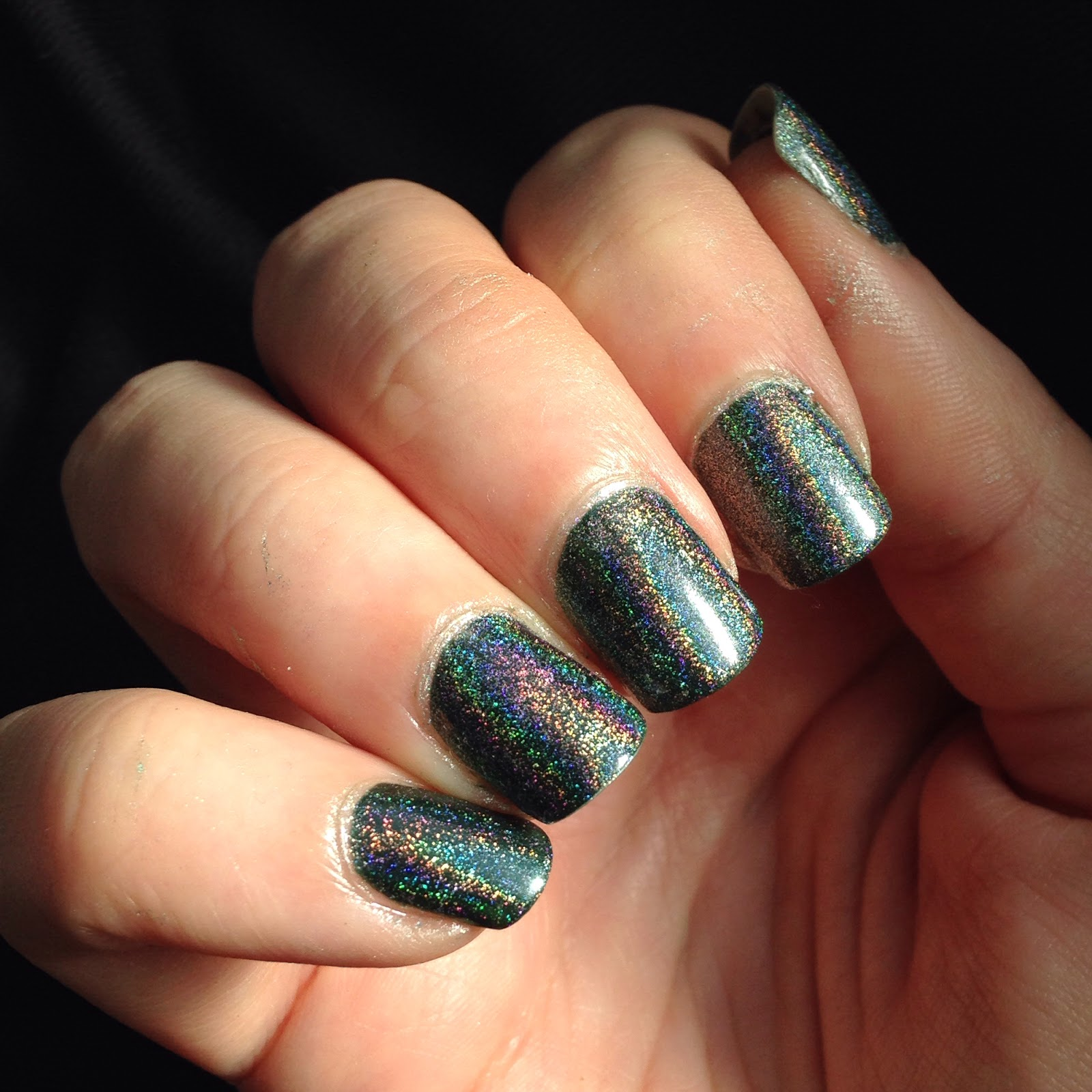 Shaka Holo Green topcoat holographic