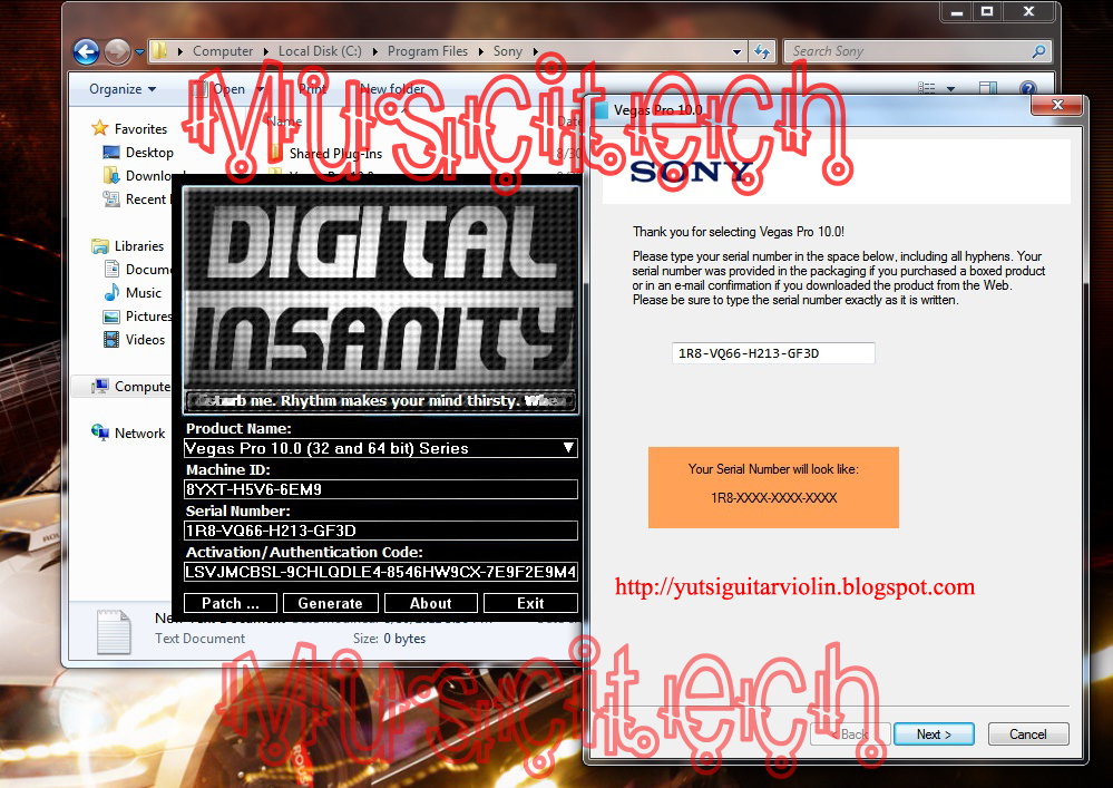 digital insanity keygen  sony vegas pro 12