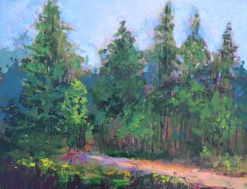 Amy whitehouse paintings march 2011 for Painting a forest in acrylics