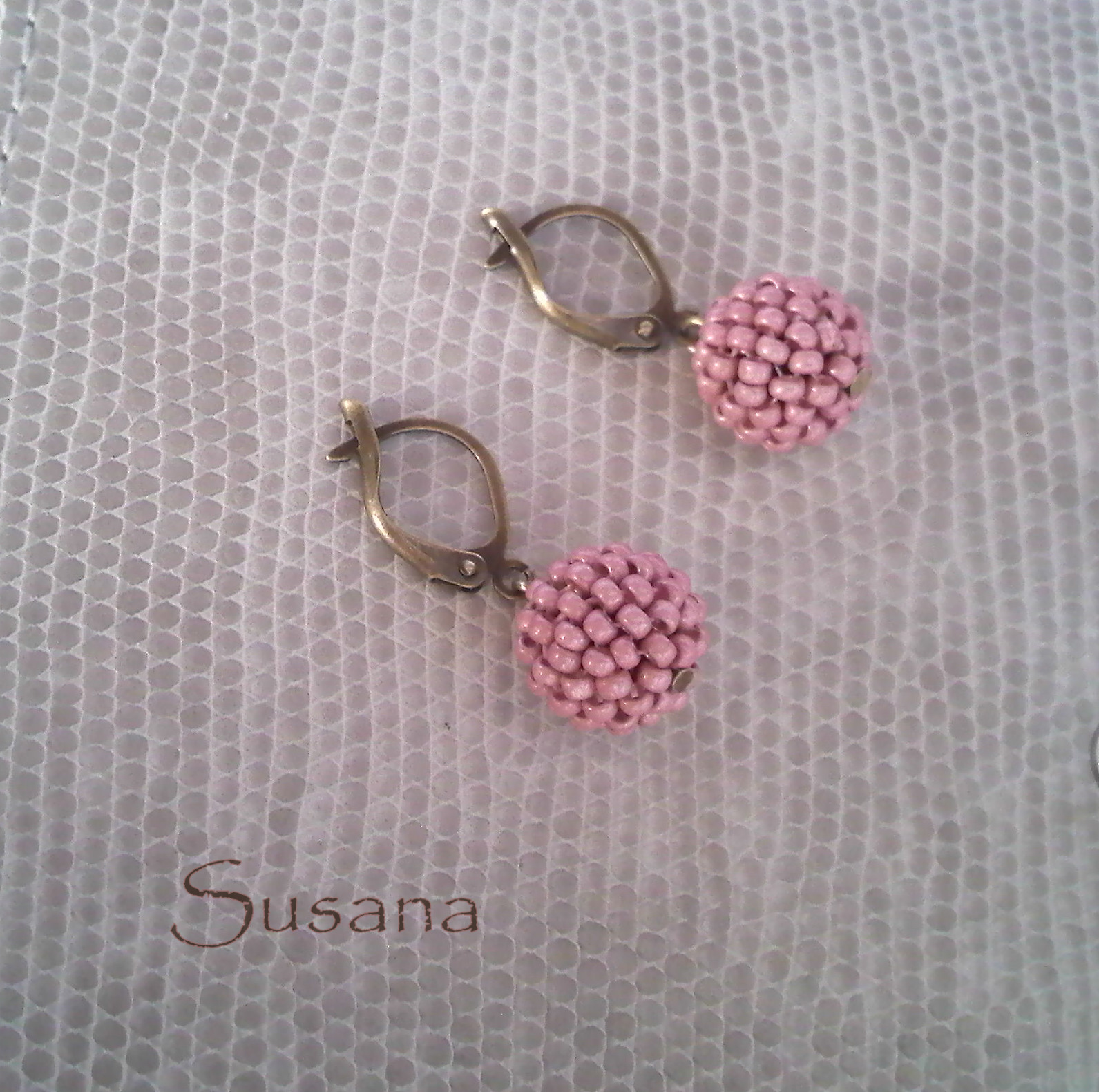 El joyero de elena pendientes rosa palo - Colgadores de pendientes ...