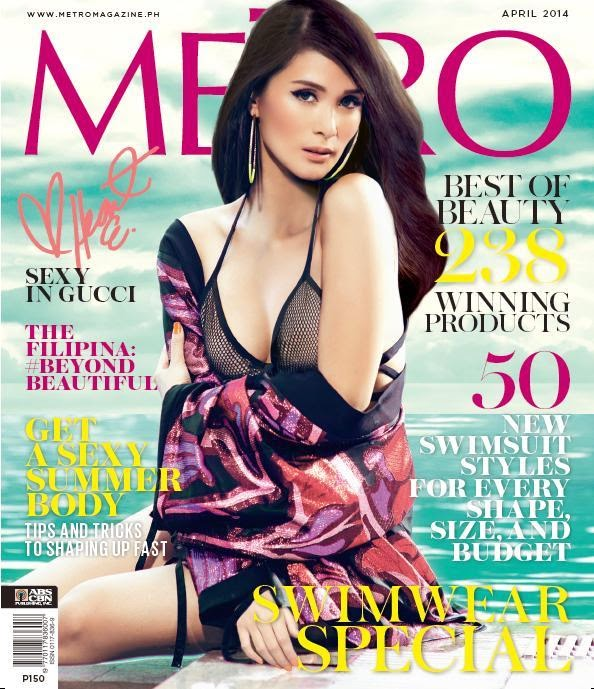 Heart Evangelista Covers Metro April 2014 issue