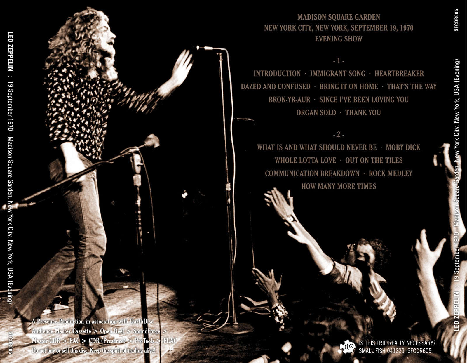 Long Live Led Zeppelin Led Zeppelin Madison Square Garden One More For The Road