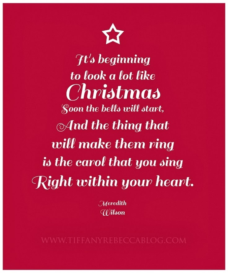 Its beginning to look a lot like Christmas soon the bells will start, An...