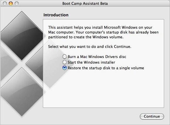 Xoá bỏ HĐH Windows đã cài lên máy MacBook