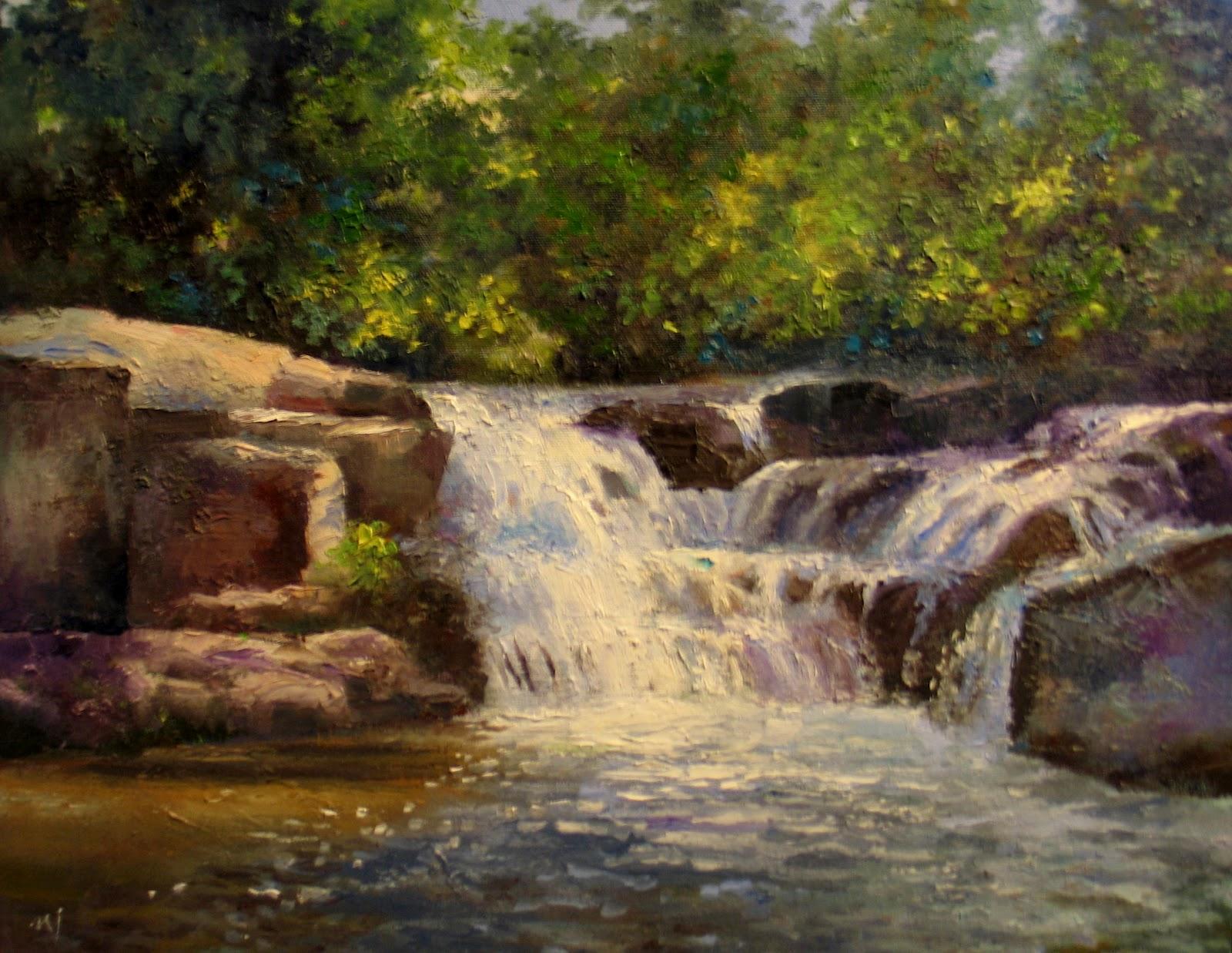 Painting Waterfalls In Oils