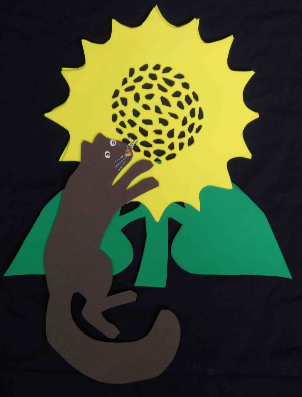 of dawn crafts sunflowers and squirrels hanging outdoor