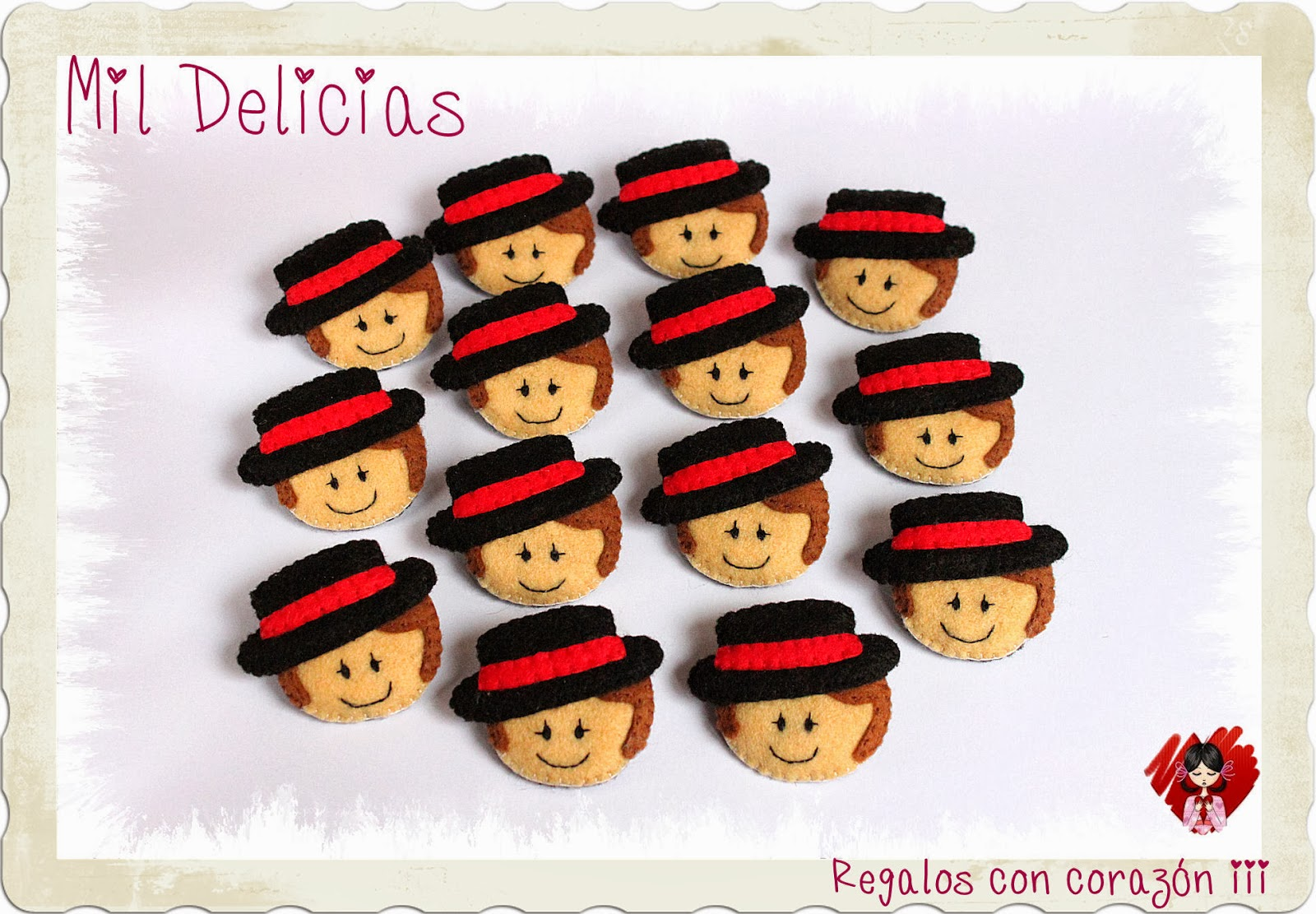 Broches flamencos