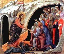 Jesús abriendo las puertas del cielo