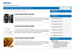 Putih Biru Blogger Template, Download Template Putih Biru untuk Blogspot, Template Karya Dadang Herdiana